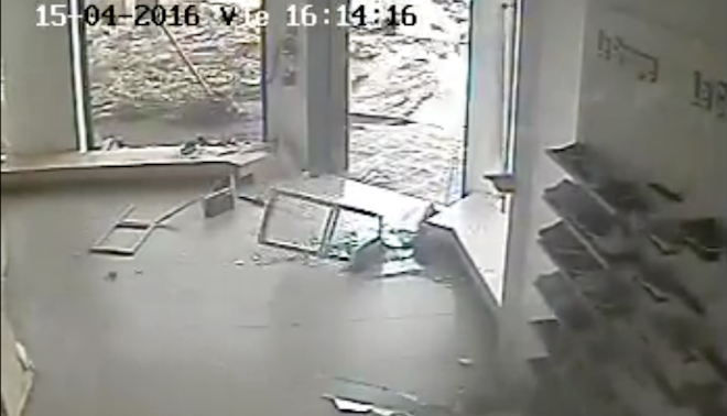 Tornado Close Call Caught on Store Security Camera