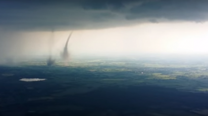 WATCH: Extremely Rare Twin Tornadoes Dramatically Strike Germany