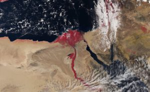 Satellite Photo Shows Nile River Colored Blood Red