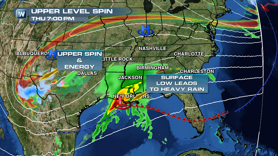 Huge System to Bring Dousing Rain and Severe Threat to the Deep South