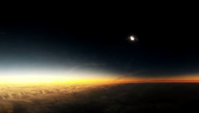 VIDEO: Stupendous Solar Eclipse Shot from the Sky