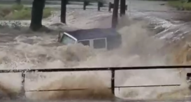 WATCH: Jeep Swept Away by Flood Waters in New Braunfels, Texas