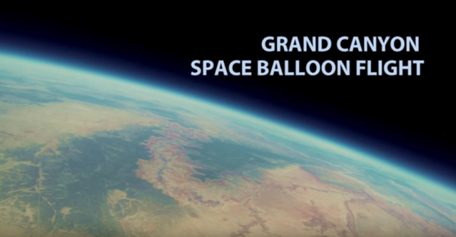 The Grand Canyon Filmed from the Stratosphere