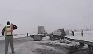 Video: Semi Slams Vehicle With Family Inside