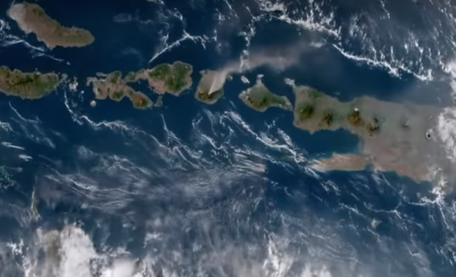 Video: What Does a Volcano Look Like Erupting from Space? Check It Out!