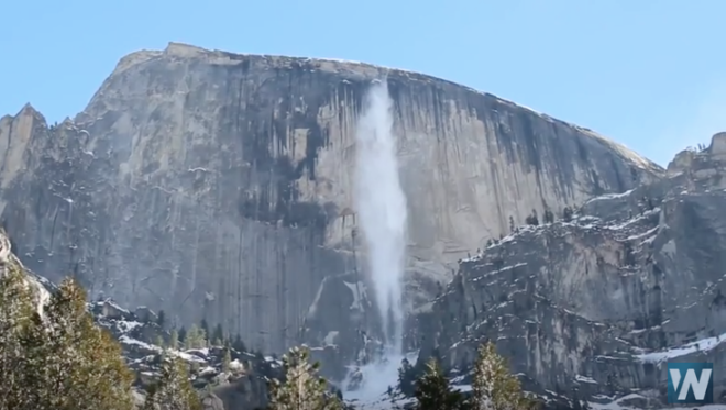 WATCH: Avalanche Cascades off Yosemite's Half Dome