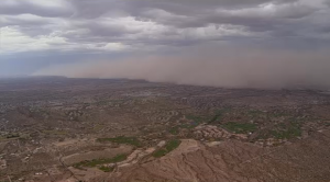 Arizona Dust Storm From the Air