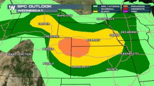 Severe Weather Targets Plains, Colorado On Wednesday
