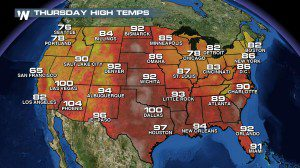 Hot, Wet and Windy in the Southeast