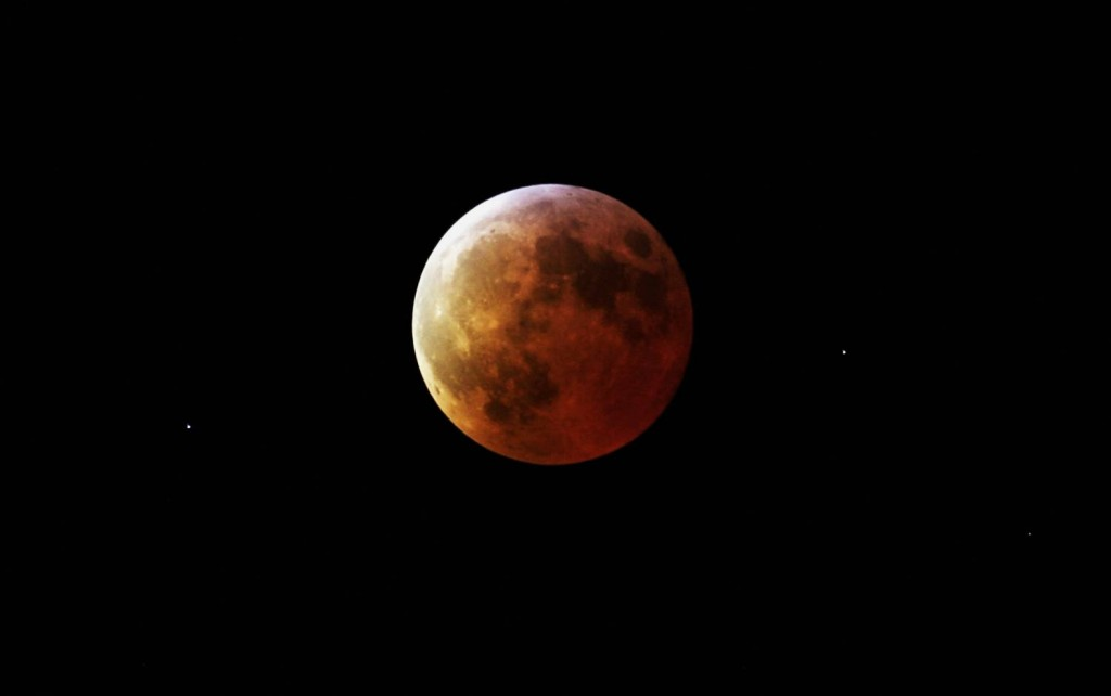 Earth Treated To Total Lunar Eclipse