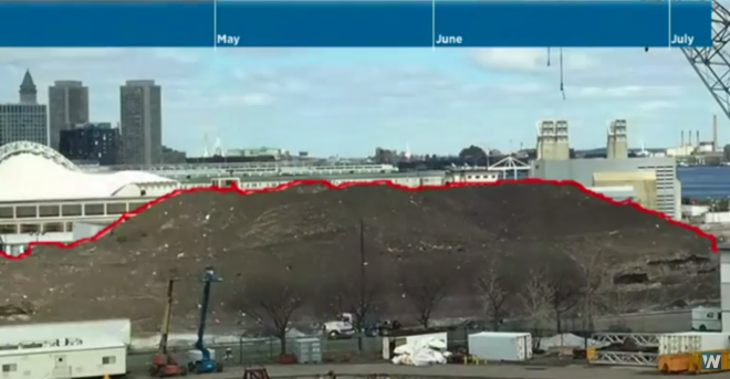 Tons of Trash In Boston's Last Snow Pile
