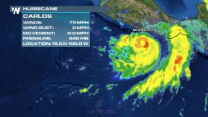 Hurricane Carlos Strengthens, To Impact Mexico