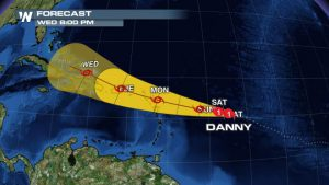 Danny Gradually Weakens As Storm Approaches Caribbean