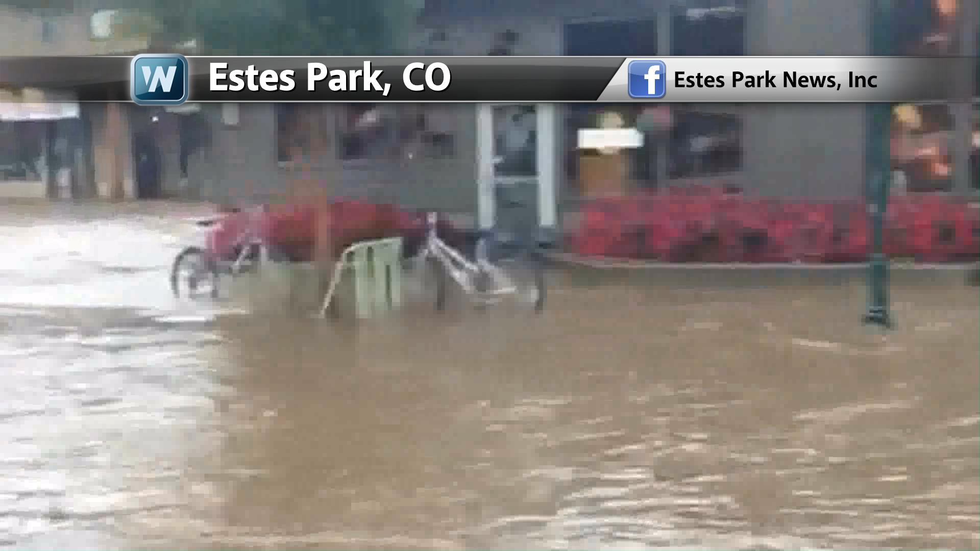 historic flooding in colorado - 100 year flood