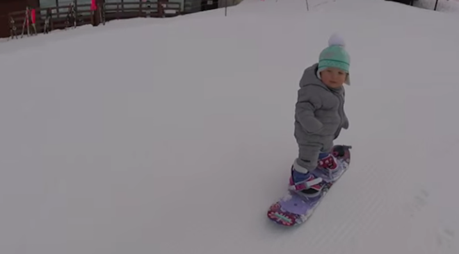 1-Year-Old Snowboarder 'Shreds' Slopes in Unbelievable Videos