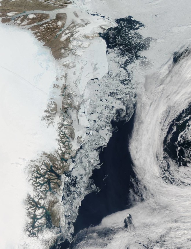 Huge Chunks of Melting Ice Captured by NASA Satellite