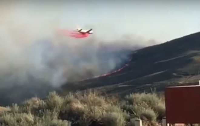 WATCH: Hot Pot Fire – Air Attack Saves Nevada Town From Fire