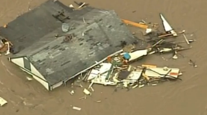 Caught on Camera: Home Washes Away in Missouri