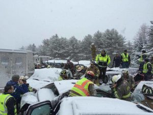 VIDEO: 20 Vehicle Pileup in Maine
