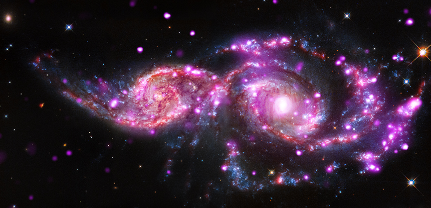 This Galactic Collision, Captured By NASA's Chandra X-Ray Observatory,  Is Mesmerizing