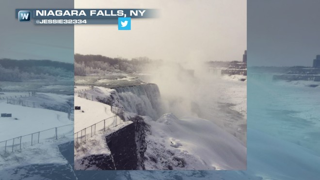 Check out the Frozen Niagara Falls!