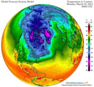 Polar Shrinkage - Slow Thaw Likely (3rd highest North American snow cover in 48 years)