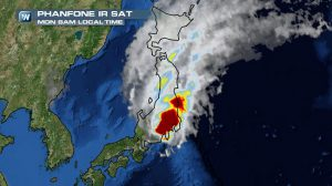 Typhoon Phanfone Washes U.S. Airmen Out to Sea; One Dead, Two Missing