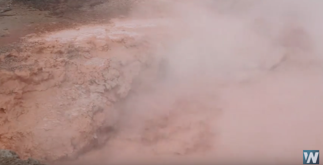 WATCH: Red Spouter Bubbles in Yellowstone