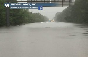 Bonnie Makes Landfall; Parts of I-95 Closed Off