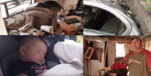 WATCH: Baby Sleeps Through Strong Winds That Destroy Texas Family's RV