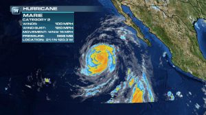 Hurricane Marie Causes Big Swells and Rip Currents in Southern California