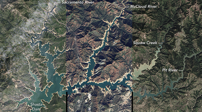 WATCH: Water Levels Rise on Shasta Lake California