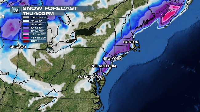 Winter Storm to Impact the East Coast, Likely to Cause Huge Thanksgiving Travel Headaches