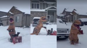 Dinosaur Breaks out of the Ice Age to Exact Revenge on Snow