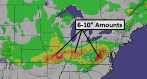 What March? Heavy Snow Ohio Valley (Monday slush potential Mid Atlantic Region)