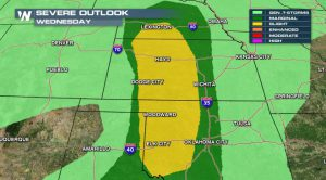 Severe Threat Moves East