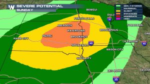Strong Storms To Impact Dakotas, Upper Midwest Sunday