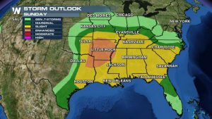 Severe Weather Threat Over Wide Area for South, East