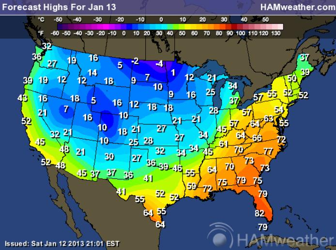 Record Warmth East (new climate study shows how warming is already impacting U.S.)