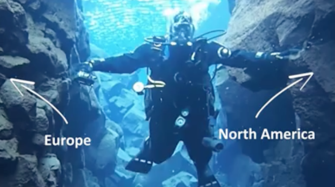 VIDEO: Divers Swim Between North American and Eurasian Tectonic Plates