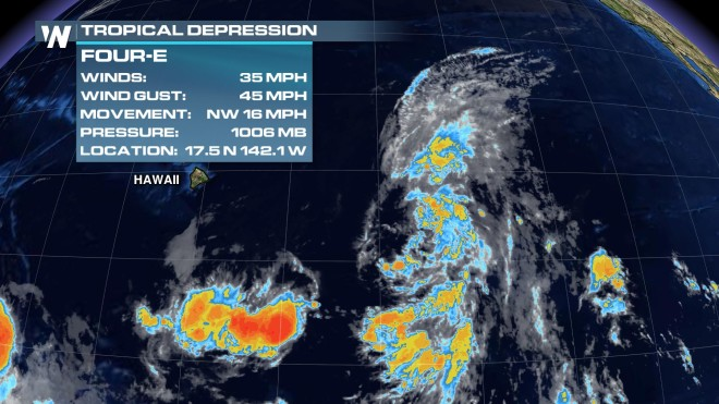 Tropical Depression Threatening Hawaii – Likely to Be Second Named System Ela