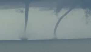 Dueling Waterspouts Spotted Dancing in Florida