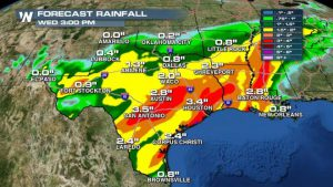 Rainy Week On The Way For Texas, South
