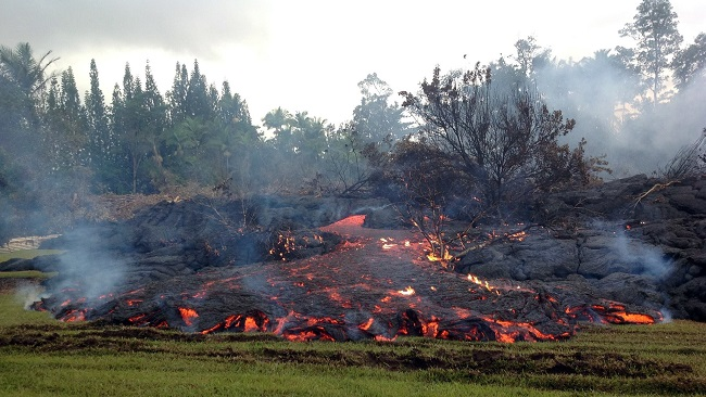 Lava Flow in Hawaii Claims First Home on the Big Island