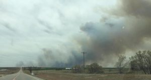 Evacuations underway in Oklahoma Wildfire